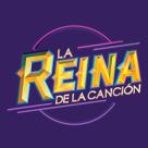 Logo la reina de la cancion social media follow