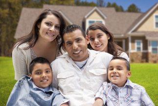 Una familia hispana.