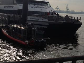 Accidente ferry bajo Manhattan.