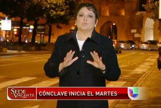 La periodista María Antonieta Collins despacha en vivo desde Roma durant...