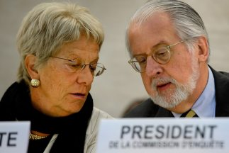 Miembros de la comisión investigadora de la ONU sobre Siria.
