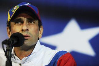 El excandidato presidencial opositor de Venezuela,Henrique Capriles.