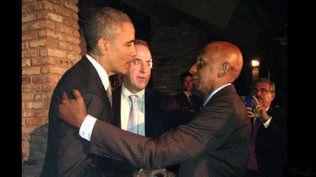 El presidente de Estados Unidos, Barack Obama, y el disidente cubano Gui...
