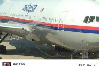 Esta es la fotografía del vuelo MH17 que el pasajero tomó momentos antes...