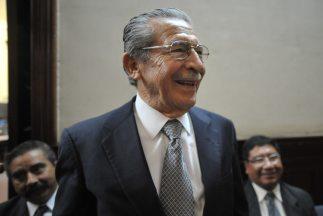 Exdictador Efraín Ríos Montt.