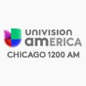 UNIVISION CHICAGO 1200 AM LOGO SOCIAL FOLLOW