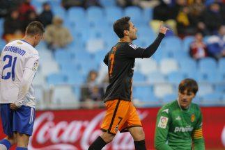Con sus dos goles Jonas le quitó el triunfo al Zaragoza.