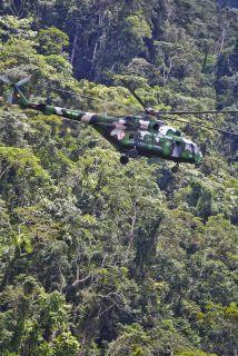 Un helicóptero con 11 turistas surcoreanos y dos austríacos a bordo fue...