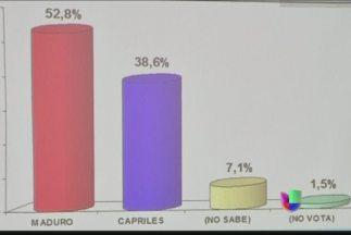 Encuestas dan ventaja a Nicolás Maduro sobre Henrique Capriles
