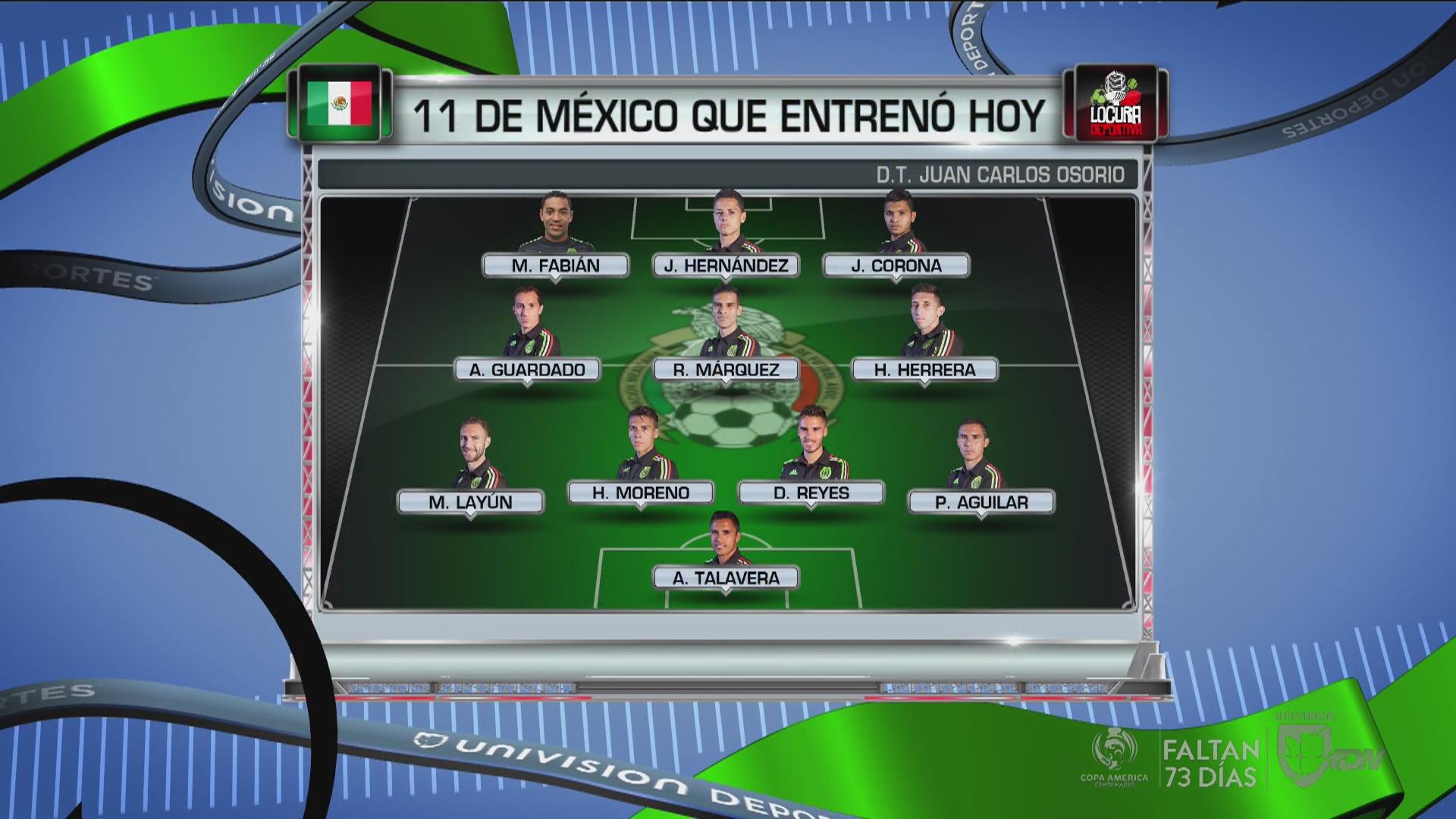 ... ensayó la posible alineación de México ante Canadá - Univision