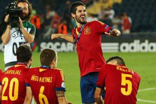 La última gran actuación de Isco se dio en el Europeo Sub-21, donde Espa...
