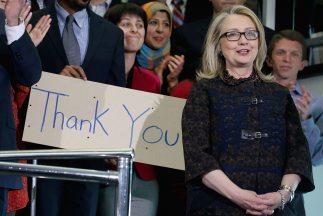 Hillary Clinton, en su acto de despedida.