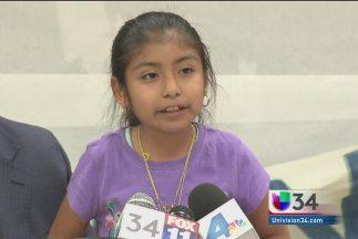 La niña inmigrante Jersey Vargas.