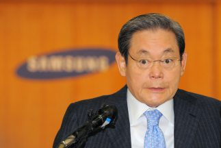Lee Kun-hee, de 70 años, heredó la mayor parte del conglomerado Samsung...