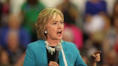 Hillary Clinton, precandidata demócrata a la Presidencia.