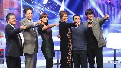 Los primos Santiago y Rubén Galindo, acompañados por Jan, Galilea Montij...