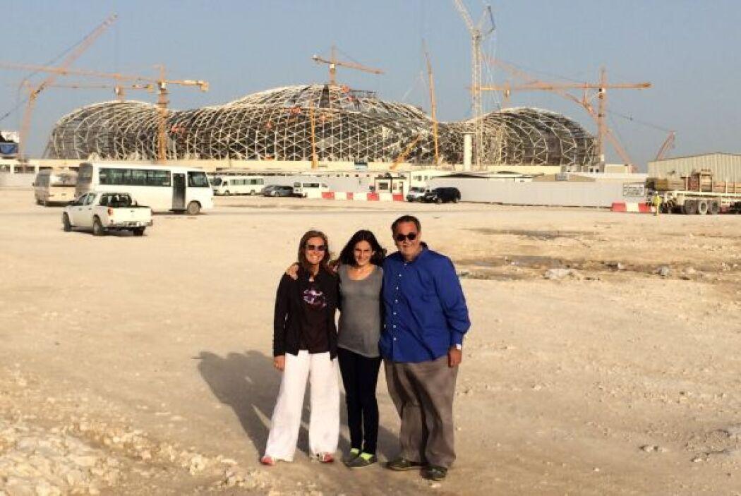 """""""Regresando paramos por un día en Qatar y vinos las instalaciones y cons..."""