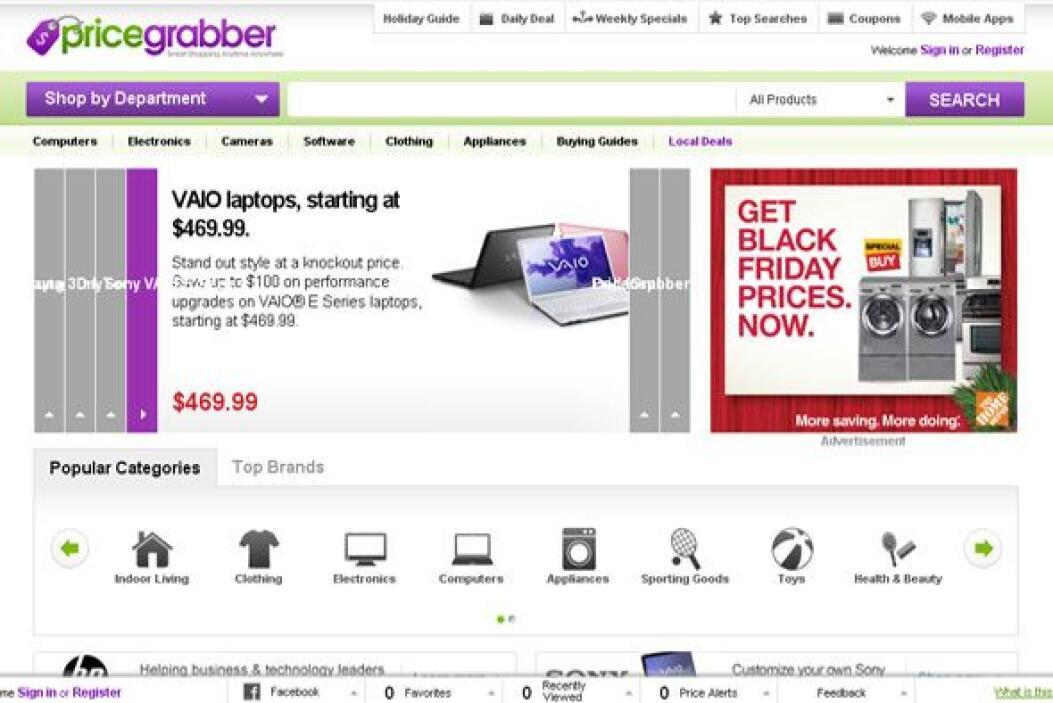 PRICEGRABBER - Te permite saber quién está vendiendo lo que necesitas co...