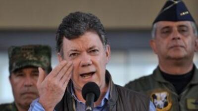 El presidente de Colombia,Juan Manuel Santos