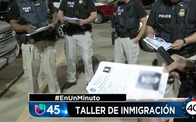 En Un Minuto Houston: Ofrecen taller educativo a inmigrantes para que no...