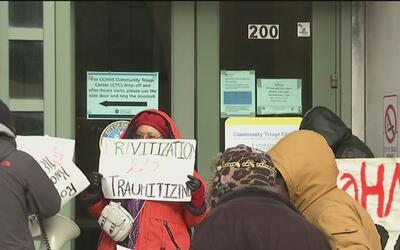 Activistas protestaron contra el cierre de clínica de salud mental en Ro...