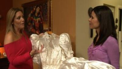 Ivette Pinto, Claudia Caporal y el vestido de novia.