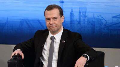 Dmitry Medvedev en Munich.