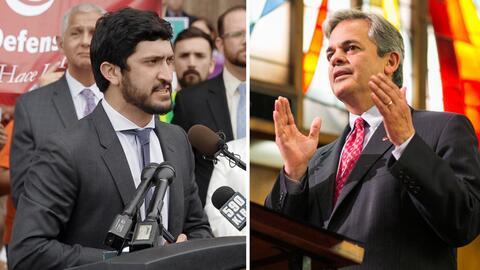 El alcalde de Austin, Steve Adler, y el concejal Greg Casar son dos de l...