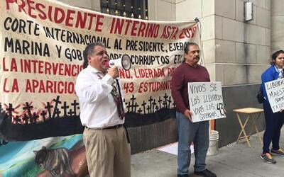 Huelga de hambre por estudiantes de Ayotzinapa