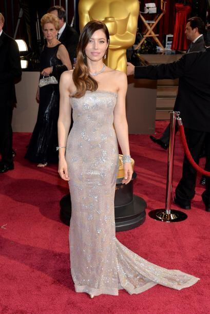 La elección de Jessica Biel fue un Chanel Couture, lo que hizo qu...