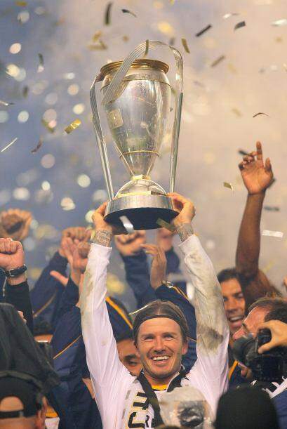 El el 2011 David Beckham ayudó al Galaxy a ganar el segundo 'Supp...