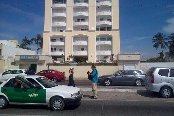 Los exteriores del complejo donde se realizó el operativo.(...