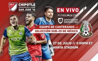 EN VIVO | Equipo de Canteranos de la MLS vs Selección sub-20 de México