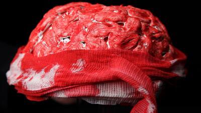 Crea un cerebro sangriento