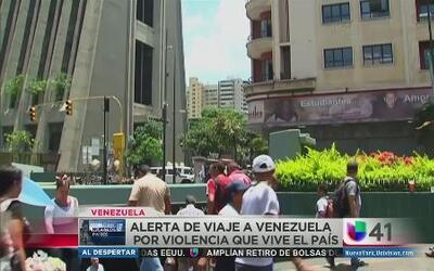 Alerta de viaje por violencia en Venezuela