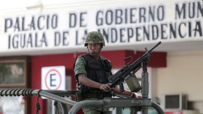 Ejército en Iguala, México.
