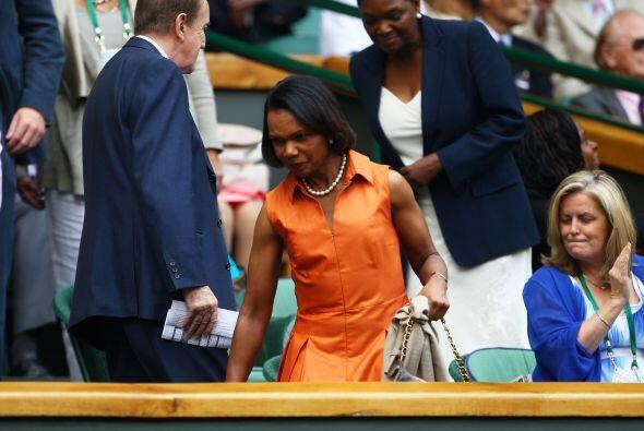 Condolezza Rice no se quedó atrás y también asisti&...