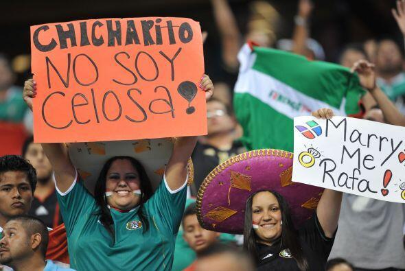 Alguans aficionadas tenían muy claras sus intenciones en el Estadio.