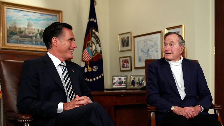 Los 87 años de George H. Bush no impidieron que saliera en una entrevist...
