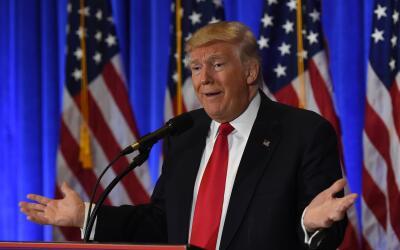 Donald Trmp en conferencia de prensa el pasado el pasado 11 de enero en...