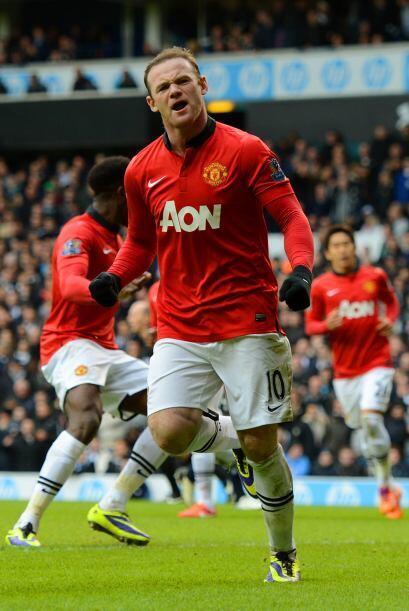 Wayne Rooney colocaba el 1-1 y le daba tranquilidad a su equipo, que nec...