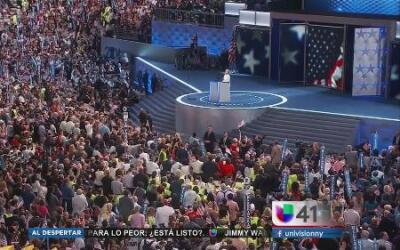 Los momentos clave del cierre de la Convención Demócrata
