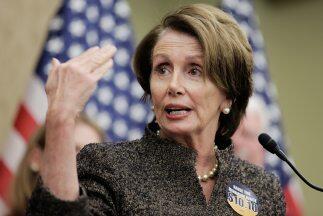 La líder de la minoría demócrata en la Cámar...