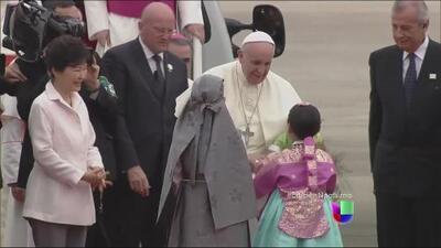 El Papa llega a Corea del Sur para un festival católico juvenil