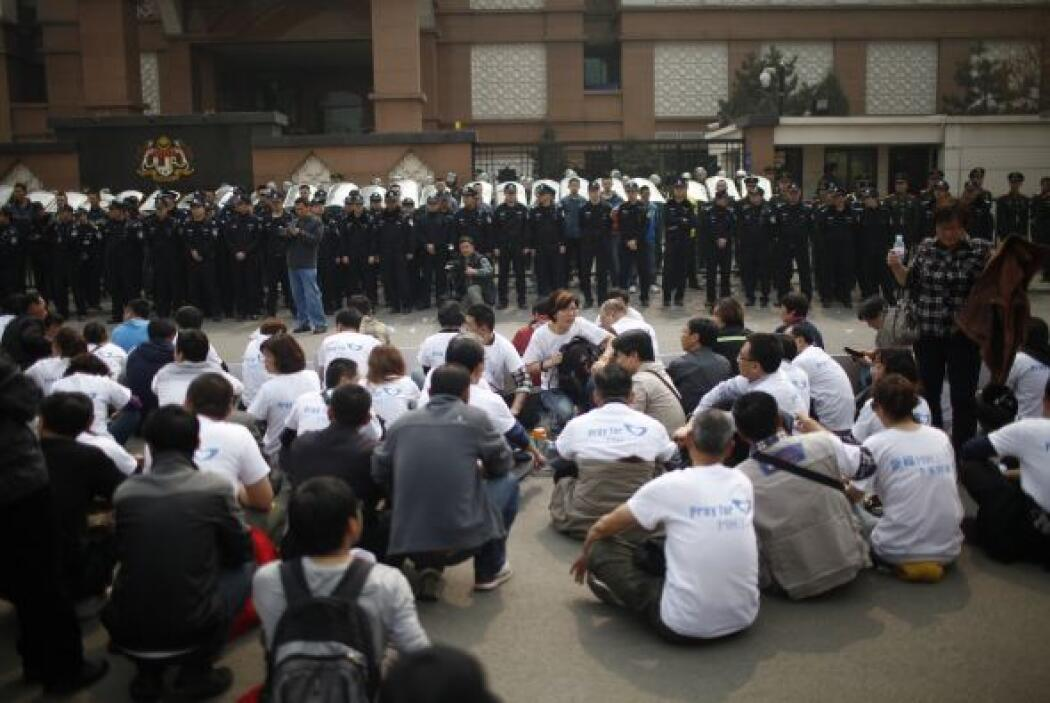 Los familiares se habían mantenido en un hotel del noreste de Pekín hast...