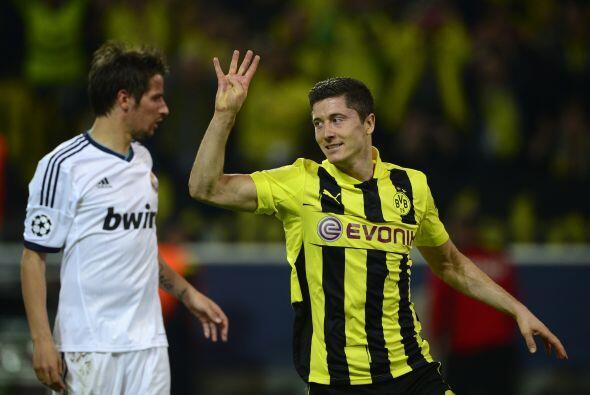 Cuatro goles de Lewandowski, tal y como el propio jugador lo seña...