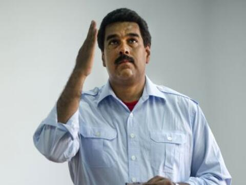 El candidato presidencial oficialista Nicolás Maduro afirm&oacute...
