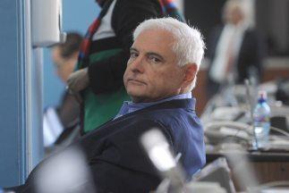El expresidente Martinelli durante una sesión del Parlacen, en enero de...