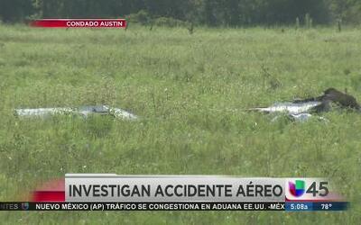 Avioneta se estrelló en Fort Bend