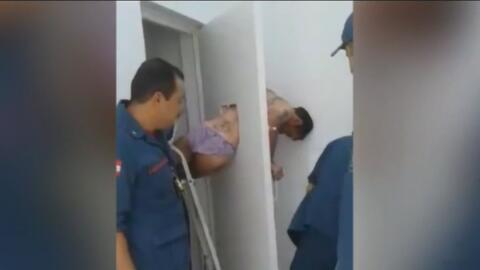 Un preso no hizo bien sus cálculos y quedó atrapado cuando intentaba esc...